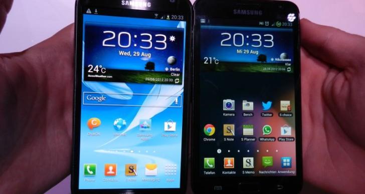 Vergleich: Samsung Galaxy Note 2 vs. Galaxy Note