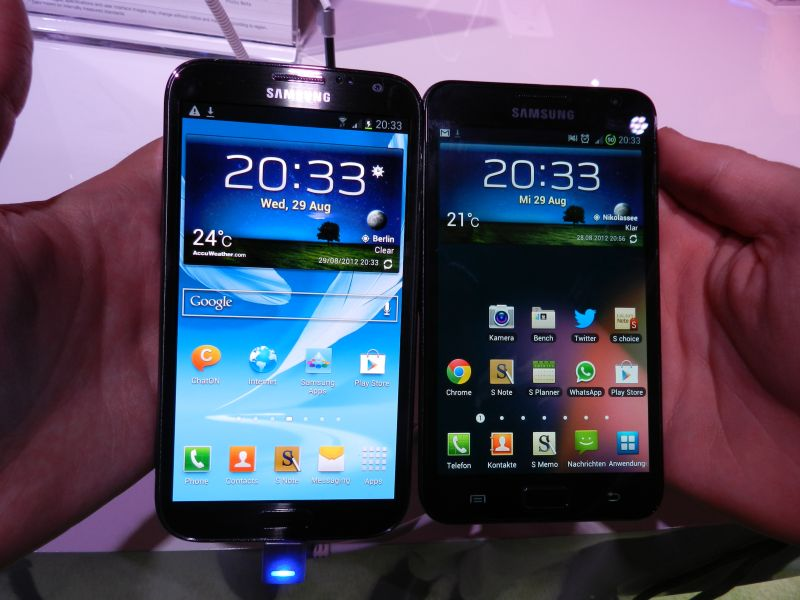 Vergleich samsung galaxy note 2 vs galaxy note