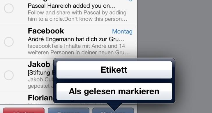 Anleitung: iPad alle Mails als gelesen markieren