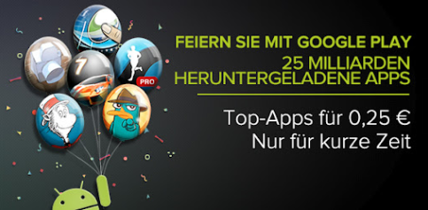 25 Milliarden App-Downloads im Play Store: Rabattaktion! [Update]