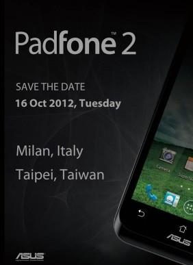 ASUS kündigt Padfone 2 am 16. Oktober an