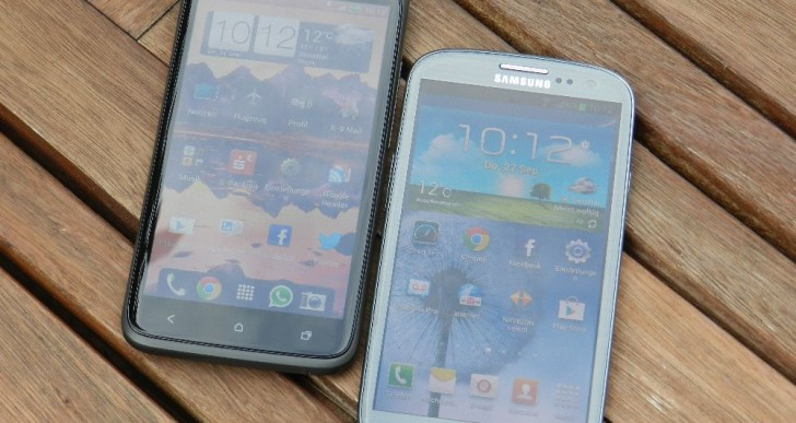 Vergleich: Samsung Galaxy SIII LTE vs. HTC One XL