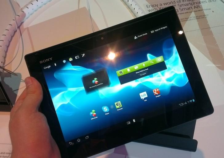 Sony zieht Xperia Tablet S aus dem Verkauf, Probleme mit Spritzwasserschutz
