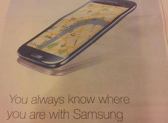 """Lustige Werbung von Samsung nimmt """"Apple Maps"""" auf den Korn"""