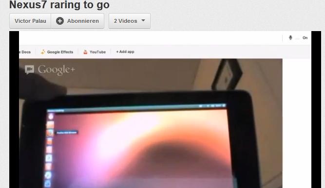 Ubuntu läuft auf dem Nexus 7 (Video)
