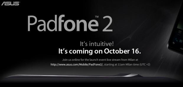 ASUS Padfone 2 Vorstellung als Live Stream am 16. Oktober sehen