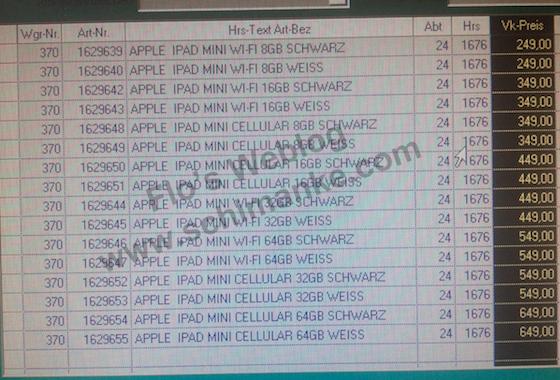 iPad mini: Preise ab 249€ und Akku-Details