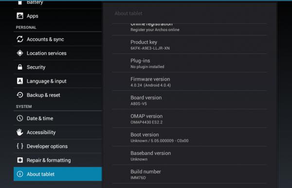 Archos 101 & 80 G9 Tablets erhalten Update auf Android 4.0 Ice Cream Sandwich