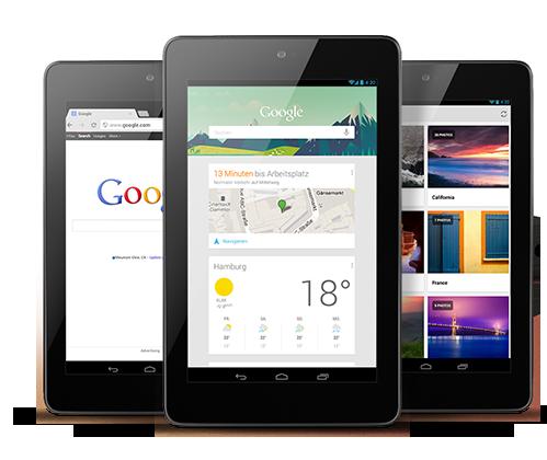 Nexus 7 mit 32GB und 3G vorgestellt
