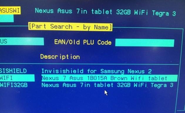 Google Nexus 7 mit 32GB Speicher aufgetaucht