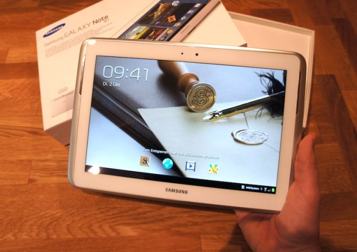 Tablet in der Uni: Samsung Galaxy Note 10.1