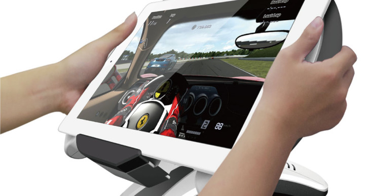 in-equip Tablet Racing Wheel verwandelt das iPad in einen Rennsimulator