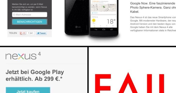 Kommentar: Nexus 4 und Googles Unfähigkeit