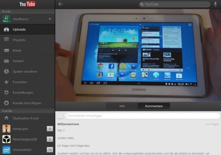 Offizielle YouTube-App für das iPad veröffentlicht