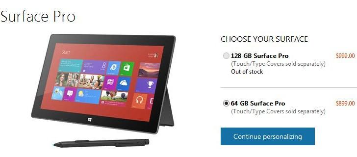 Surface Pro: 128 GB Variante schon ausverkauft – ein Kommentar