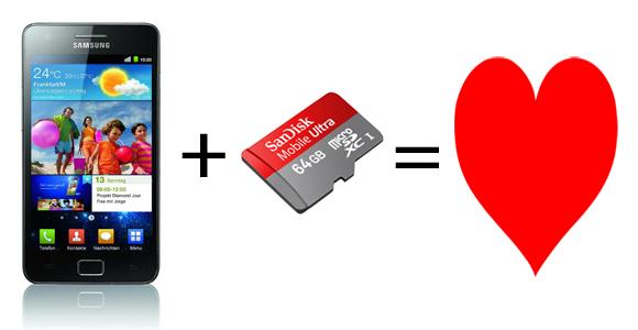 Samsung Galaxy S2 unterstützt 64GB microSDXC-Karten!