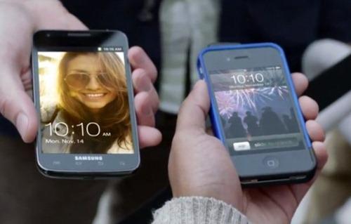 Samsung Galaxy S2 Werbung macht sich über Apples iPhone 4S lustig