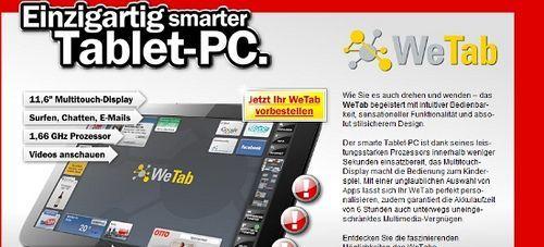 Kommentar: WeTab bei MediaMarkt vorbestellbar [Update 2]