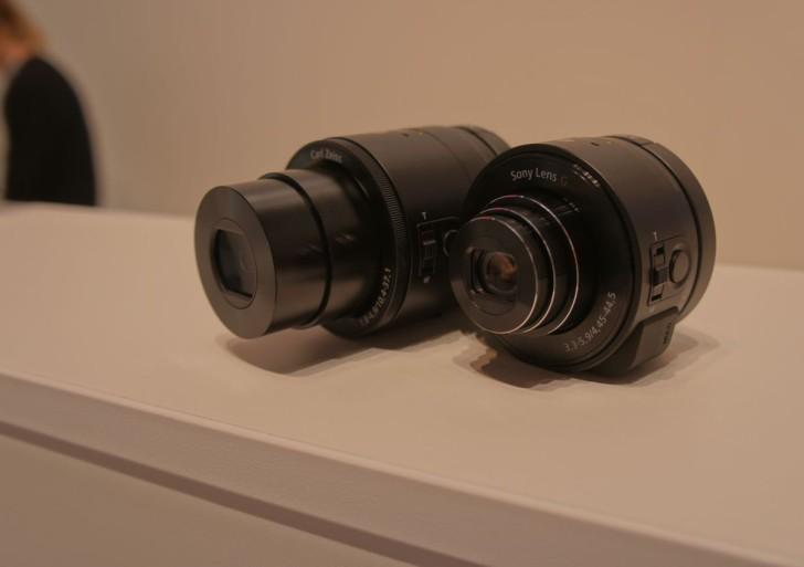 Sony QX-10 und QX-100 SmartShot Objektive im Vergleich