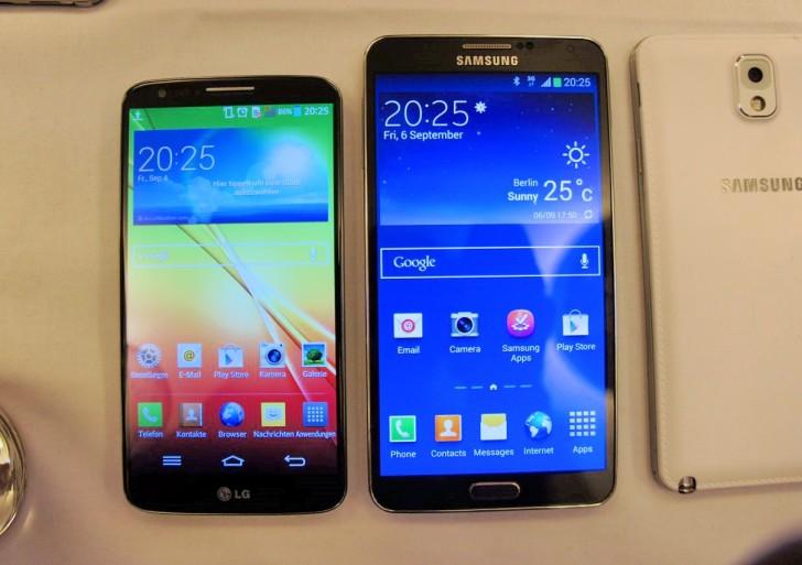 Samsung Galaxy Note 3 & LG G2 im Vergleich