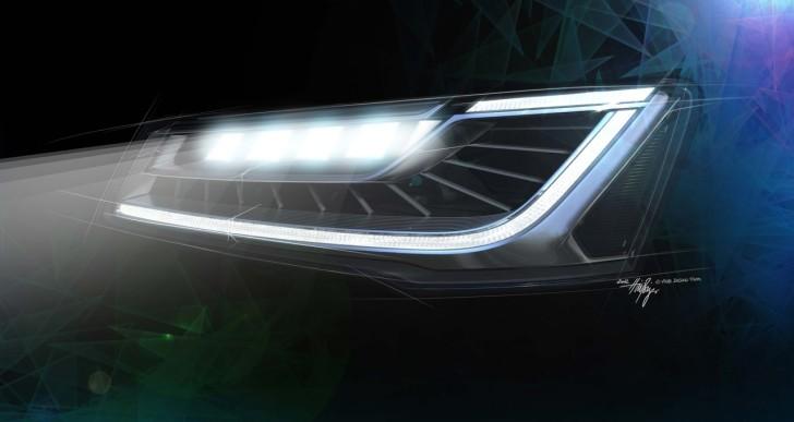 Audi A8 Matrix LED Fernlicht – die Zukunft der Scheinwerfer