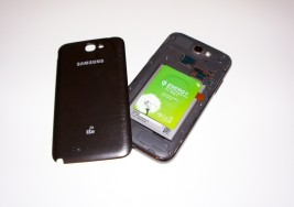Samsung Galaxy Note 2 mit Qi-Adapter drahtlos laden