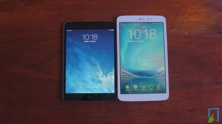 iPad mini LG G Pad Display