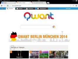 Qwant Startseite