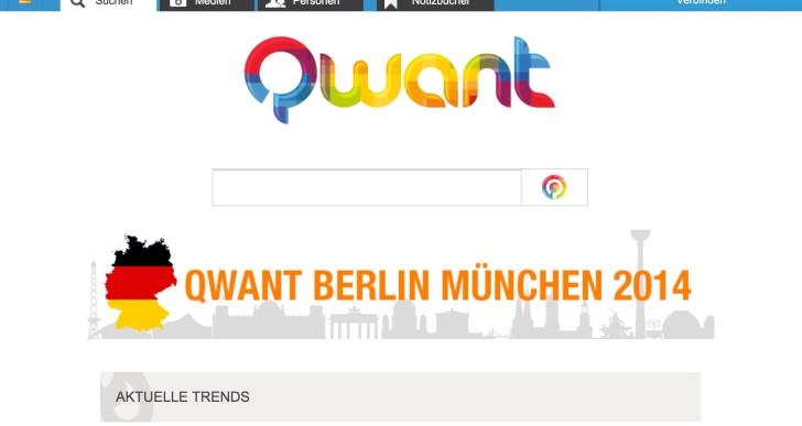 Suchmaschine qwant – erste Eindrücke
