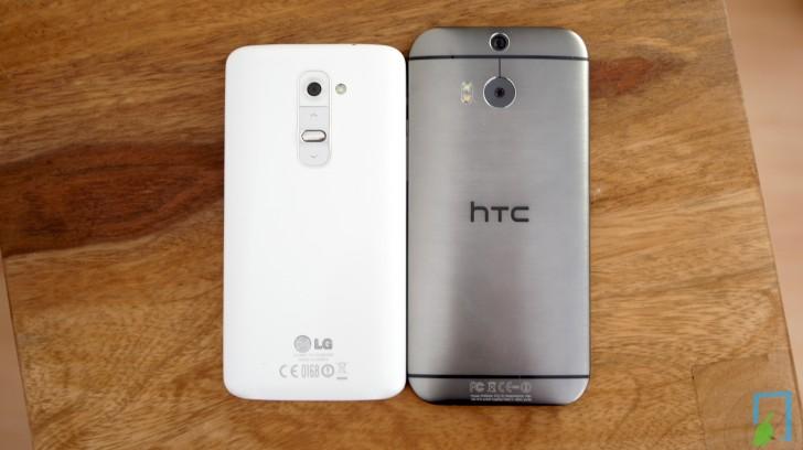 HTC one M8 LG G2 Vergleich